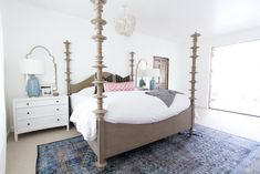 mirrors/ chandelier bed