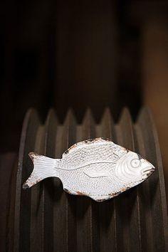 98de82dec376 Pewter Fish Coin   Jewelry Dish in Antique White Rust Finish. Dimensions   5.6