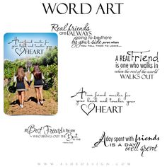 Friend Word Art for Photoshop | Best Friends | Ashe Design