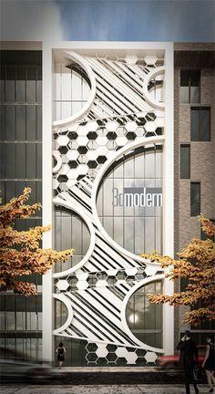 Facade Design, Exterior Design, Modern Architecture - Home Design Modern Architectural Styles, Modern Architecture Design, Commercial Architecture, Modern Buildings, Modern House Design, Residence Architecture, Facade Architecture, Landscape Architecture, Design Exterior