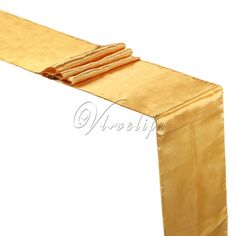 """5PCS New Gold  Satin Table Runners 12"""" x 108'' Wedding Party Banquet Home Hotel Table Decorations 30cm x 275cm Sale Only For US $9.60 on the link"""