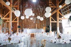 white paper lanterns
