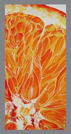 "Original art for sale at UGallery.com | Orange by Venus Winston | acrylic painting | 24"" h x 12"" w 