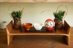 玄関に門松を飾るスペースがないお宅にもおすすめのミニ門松。/和スタイルの楽しみ方(「はんど&はあと」2013年1月号)