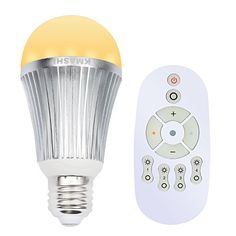 KMASHI RGB Light Bulb E27 Bulb 15W 24G Wireless RGBW Color Changing Light with Remote Control Party and Christmas Lights