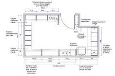 Dimension dressing, dimension placard : tous nos plans pour dessiner votre dressing ou placard - Côté Maison Dimension Dressing, Joinery, Dimensions, Floor Plans, Deco, How To Plan, Saunas, Garage, Construction