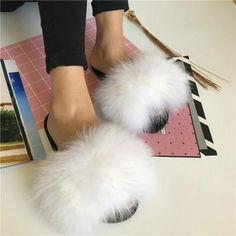 Fur Sliders, White Fox, New Instagram, Fur Fashion, Fox Fur, Color, Things To Sell, Range, Store