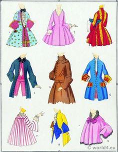 French Fashion Coats of Louis XV