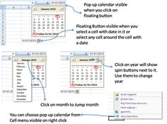 Yogesh Gupta's Excel Tips: Excel Macros : Excel Date Picker Computer Lessons, Technology Lessons, Computer Programming, Computer Tips, Vba Excel, Excel Macros, Library Lessons, Microsoft Excel, Microsoft Office
