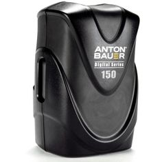 Anton Bauer V150 - A high quality V-Mount battery line with significant improvements made to the traditional V-Mount design, setting a new standard for the industry.  The Digital Battery Series is designed to power contemporary digital productions and offers world-class levels of safety, performance and reliability in a sleek, ergonomic design.