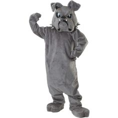 Bulldog Spike Mascot Adult Costume (€490) ❤ liked on Polyvore featuring costumes, halloween costumes, adult dog costume, dog mascot costume, adult costume, dog halloween costumes and mascot halloween costumes