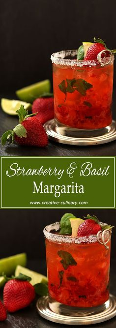 Strawberries and Basil are legendary together. Add tequila and it's an excellent version of a fantastic cocktail! via @creativculinary
