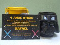 Convite Impresso Star Wars   Rabisco Colorido   Elo7
