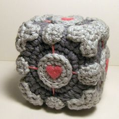 Free cute Portal Companion cube amigurumi pattern!    Nerdigurumi - Free Amigurumi Crochet Patterns with love for the Nerdy » » Nerdigurumi Amigurumi Pattern Index