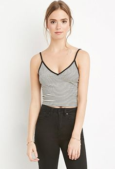 Striped Cami Crop Top | Forever 21 - 2000180553