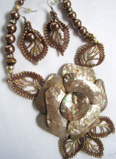 Mother of Pearl & Russian Leaves by Sharon A Kyser