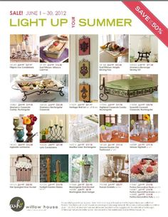 Big Home Decor Sale Expires Today 6 30 With Willow House 2 Pages Of