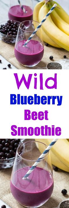 Wild Blueberry Beet Smoothie is full of antioxidants and is nutrient rich!