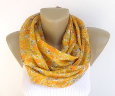 spring summer cotton scarf floral scarf women by senoAccessory, $18.90