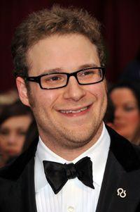 Seth Rogen wears Alzheimer awareness pin to the Oscars #alzheimers #tgen #mindcrowd www.mindcrowd.org