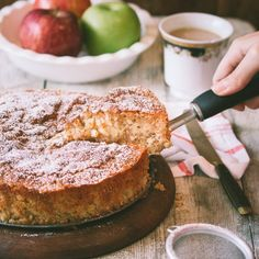 This simple, homey, comforting apple cake makes the perfect dessert or snack for fall.