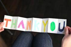 Accordion Thank You Card   Julep