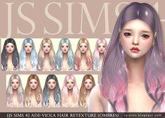 Ade-Viola Hair Retexture at JS Sims 4 via Sims 4 Updates