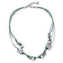 Home - Miglio Designer Jewellery Rock Necklace, Leather Necklace, Leather Jewelry, Beaded Necklace, Glam Rock, Necklace Lengths, Teal, Blue, Swarovski Crystals
