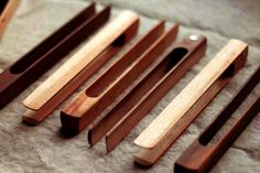 Wooden Toaster Tongs  (so cool)