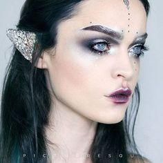 "Regina from @picturresque has knocked it out of the park again with this ""Moon Elf"" look featuring Furless silver pigment in Counterfeit!  Shop: http://furlesscosmetics.com/silver-loose-eyeshadow-pigment/"