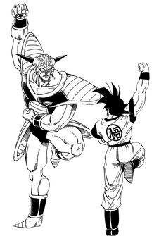 Capitán Ginyu & Goku
