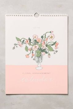 Bouquets For Days 2016 Calendar by Hartland Brooklyn #anthrofave #anthropologie