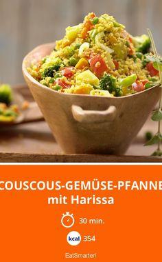 Couscous-Gemüse-Pfanne - mit Harissa - smarter - Kalorien: 354 Kcal - Zeit: 30 Min.   eatsmarter.de