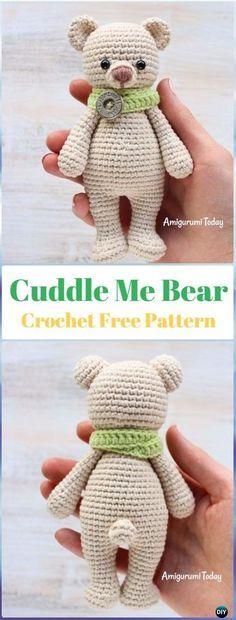 Crochet Cuddle Me Bear Free Pattern - Crochet Bear Toy Free Patterns #CrochetBear #FreePattern #AmigurumiCrochet #TeddyBear #Crochet
