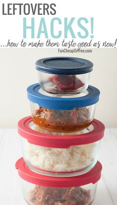 Leftovers hacks! How to eat leftovers...and actually make them taste good! - Fun Cheap or Free #recipes #leftovers