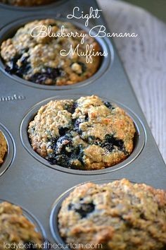 Light Blueberry Banana Muffins - Lady Behind The Curtain