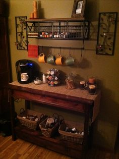 repurpose baby changing table to coffee bar for kitchen | for the