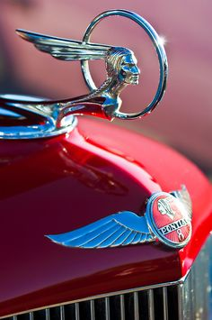 ❤ Pontiac Indian car hood ornament