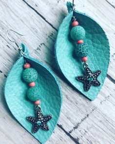 Items similar to Hello Summer Leather Leaf Earrings - Leather Earrings - Leaf . - Items similar to Hello Summer Leather Leaf Earrings – Leather Earrings – Leaf Earrings – Ligh - Diy Leather Earrings, Diy Earrings, Earrings Handmade, Handmade Leather Jewelry, Diy Jewelry To Sell, Jewelry Crafts, Jewelry Making, Leather Scraps, Homemade Jewelry