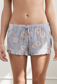 Ruffled Floral PJ Shorts | Forever 21 - 2049257428