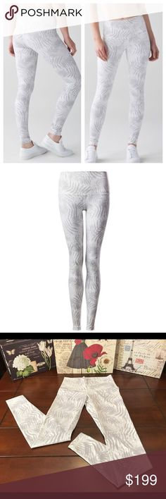 Lululemon Wunder Under Pant-Palm Camo Nimbus, Sz 6 Lululemon Wunder Under Pant-Palm Camo White Nimbus, Size 6  I do not trade.   Lulu Hi-Rise Wunder Under Pant in rare and sold out gray and white Palm Camo White Nimbus print. Release date, June 2016.   Inseam measures 29 inches. Waist is 25 inches (12.5 inches across), but of course it's stretchy. Rise is 10.5 inches. Made of Full-on Luxtreme. These are in fabulous condition and look new without tags. ☺️ lululemon athletica Pants