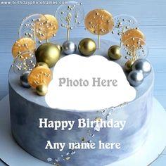Happy Birthday Flower Cake, Birthday Wishes With Photo, Birthday Cake Write Name, Happy Birthday Chocolate Cake, Birthday Cake Greetings, Birthday Cake Writing, Happy Birthday Cake Pictures, Happy Birthday Wishes Cake, Birthday Photo Frame