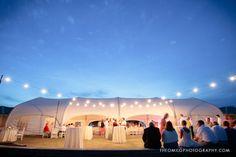Bald Head Island Wedding.  Shoals Club.  Reception and cocktail hour set up.