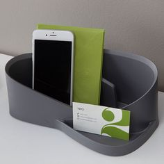 Gray office organizer. | Shape your space with Silhouette, a sleek, stylish way to organize, simplify and keep daily essentials in place…ready to go whenever and wherever you are! Versatile, lightweight and soft yet durable, Silhouette's line of products makes it a breeze to keep things easily accessible at home and office. www.silhouettespace.com