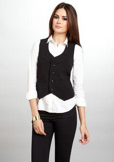 Insight - Twiggy Satin Vest.  I need more vests!