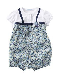 c8278b3a18d2 2-pc Set Floral Short Sleeve Romper. Sweetetots · Baby Girl Rompers
