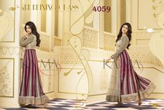 Style: Anarkali SuitWork: Embroidered, Sequins WorkFabric: Net, Georgette