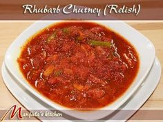 Rhubarb Chutney (Relish) Recipe by Manjula, Indian Gourmet Condiments - YouTube