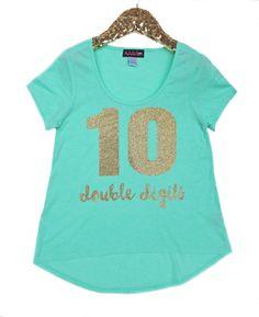 Girls Glitter Shirt, Girls Personalized Shirt, Tween Girls Shirt, Girls Sparkle…