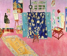 Henri Matisse, L'atelier rose (The Pink Studio), 1911, Oil on canvas, 179.5 x 221 cm, The Pushkin State Museum of Fine Arts, Moscow.